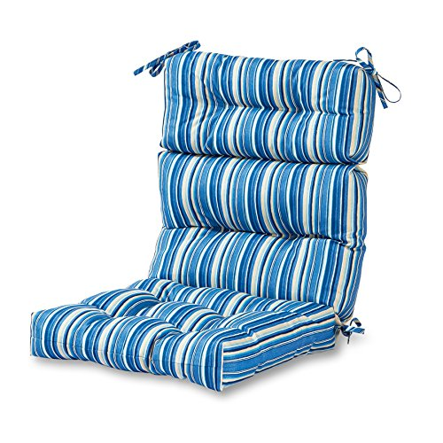 Greendale Home Fashions Outdoor High Back Chair Cushion, Sapphire
