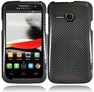 Alcatel One Touch Evolve 5020T Snap on Design Hard Case Cover Faceplate , Carbon Fiber