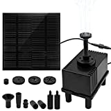 "Ankway 1.5W Solar Water Pump Kit with Filter 128"" Wire Length Solar Power Water Pump Kit for Bird Bath,Fish Tank,Small Pond, Pool and Garden Decoration (Different Spray Heads Included)"