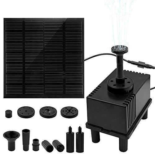 Ankway 1.5W Solar Pond Pump with Filter 128