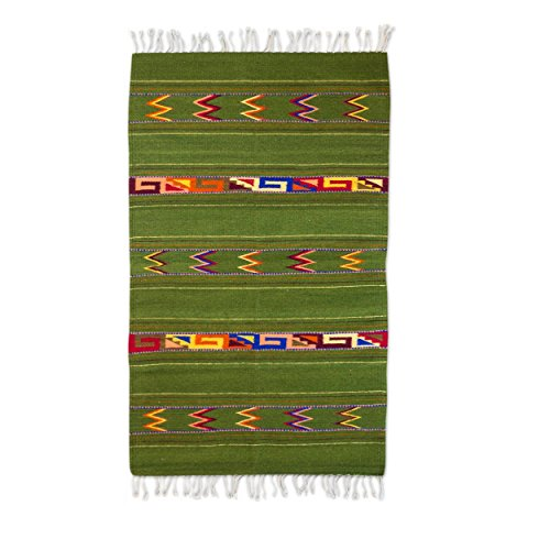 """NOVICA 213082 Forest Zapotec Wool Rug, 2.6"""" X 5"""", 2.6' for sale  Delivered anywhere in USA"""