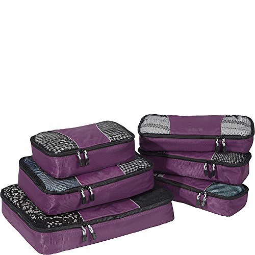 eBags Packing Cubes - 6pc Value Set (Eggplant)