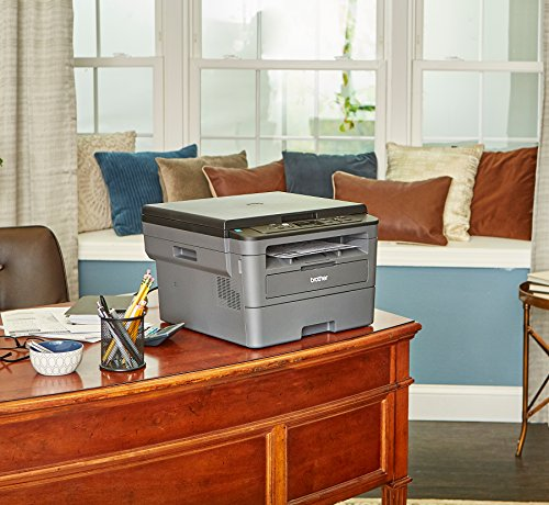 Brother Compact Monochrome Laser Printer, HLL2390DW, Convenient Flatbed Copy & Scan, Wireless Printing, Duplex Two-Sided Printing, Amazon Dash Replenishment Enabled