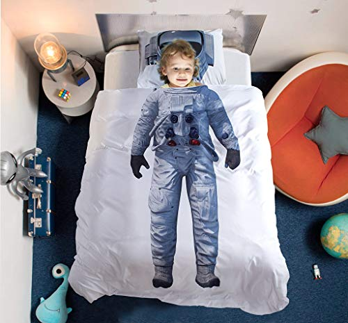 DoMyfit Duvet Cover Set Astronaut Ballet Pattern Bed linens Twin Queen Size DIY Home Decor Bedding Sets for Girls Boys Kids Children