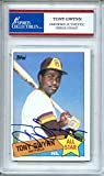 Tony Gwynn 1985 Topps San Diego Padres Autographed Trading Card - Certified Authentic