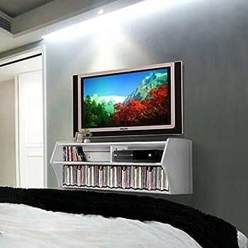 Amazon Com Prepac Altus Plus 58 Quot Floating Tv Stand White