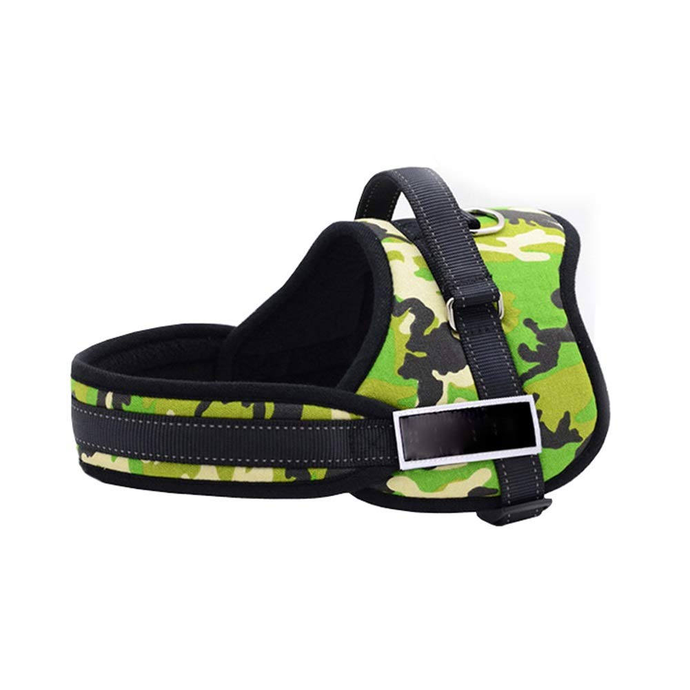 GREEN XS GREEN XS Dog Vest Harness, Outdoor Training Or Walking Safety Traction Chest Strap Chain Suitable for Puppy Medium Large Collars Rope Cat Harness (color   Green, Size   XS)