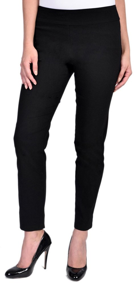 Krazy Larry Womens Pull on Ankle Pants Black 12