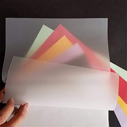 Wankd 100 hojas de papel de calco A4, papel de trazado transparente natural A4 para trazado, inyección de tinta, arquitectura, diseño, gráfico, álbum de recortes, impresión láser, dibujo a mano: Amazon.es: Hogar