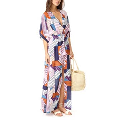 Camisolas y Pareos Bikini Beach Falda Blusa de Tela Impresa Bikini ...