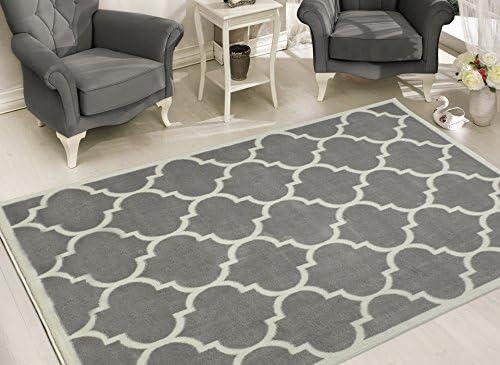 Sweet Home Stores Clifton Collection Light Grey Moroccan Trellis Design 5 3 X7 Area Rug Furniture Decor Amazon Com