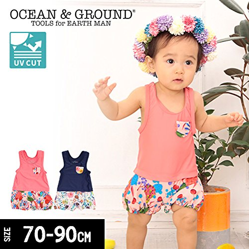 caa9b9fb88603 Amazon.co.jp: (オーシャンアンドグラウンド)Ocean&Ground GIRL Sベビーバルーングレコ水着 90 ピンク   服&ファッション小物