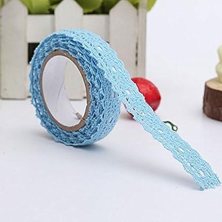 DIY cinta adhesiva de encaje Washi cintas de ajuste de cinta de tela de algod/ón cinta de decoraci/ón artesanal
