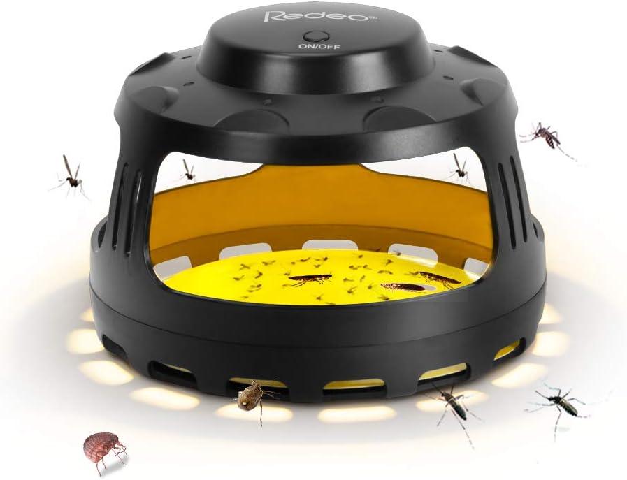 Redeo 111 Indoor Flea Sticky Bed Bug Trap Killer Works On Flying Mosq, Black