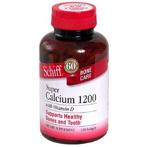 Schiff calcium super 1200mg de vitamine D, 120 gélules