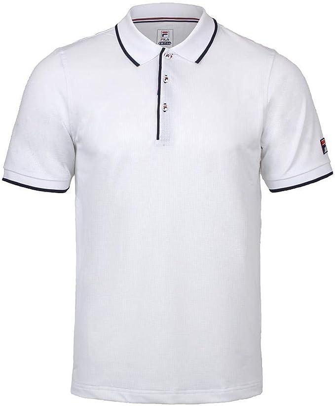 Fila Heritage Polo de Malla para Tenis para Hombre - Blanco - Medium: Amazon.es: Ropa y accesorios