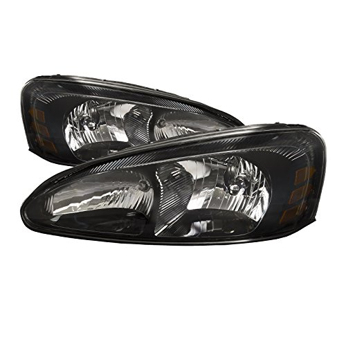 HEADLIGHTSDEPOT Compatible with Pontiac Grand Prix New Headlights Headlamps - Prix Grand Pontiac