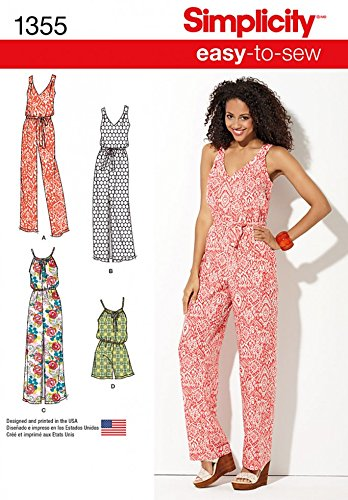 Simplicity Ladies Easy Sewing Pattern 1355 Jumpsuits in 4 Styles ...