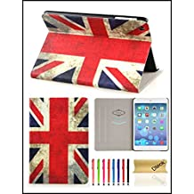 iPad Mini 1/2/3 Case, Dteck(TM) Ultra Slim PU Leather Flip Smart Stand Case Cover with [Auto Wake/Sleep] for Apple iPad Mini 3/ 2/ 1(UK Flag)