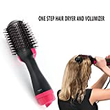 Cheap One-Step Hair Dryer & Volumizer Styler, Salon Hot Air Paddle Styling Brush Negative Ion Generator
