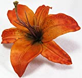 Orange Tiger Lily Hair Flower Clip