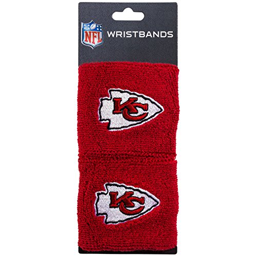 Franklin Sports Kansas City Chiefs Wristbands - 2.5