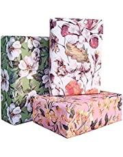 Aakar Pack of 6, Size 17 x 29 Inches, Wrapping Paper Sheets For Craft, Packing, Birthday, Christmas, Wedding (Good Vibes)