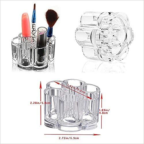 Ndier Organizador de Maquillaje Acr/ílico con 12/Slot 2/x Transparente Redondo Caja De Cosm/éticos y Labios
