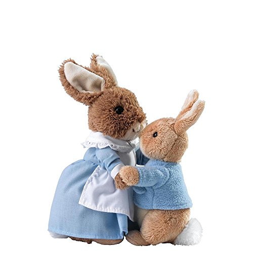 GUND Peter Rabbit A28256 Mrs Rabbit and Peter Soft Toy (Set of 2)