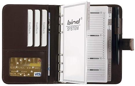bind - 16601 - Agenda de Sistema A6 de Piel Sintética Marrón ...