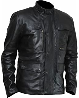 SleekHides Mens DP Leather Jacket X-Small Split Red
