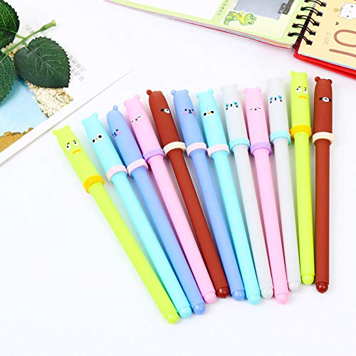 Gotian 6Pcs Creative Animal Expression Pen Gel Pens Kawaii Pen Cute Stationery Gifts