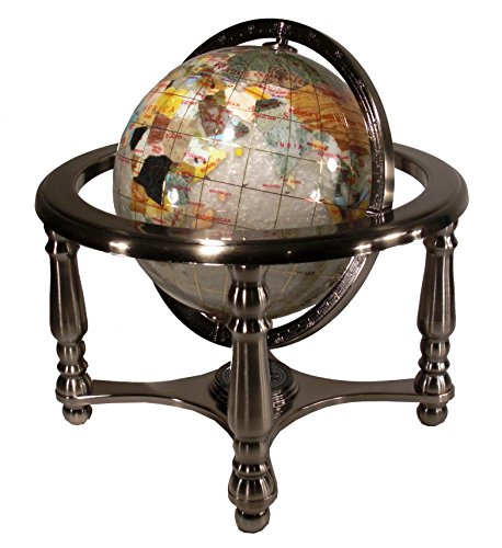 Ocean 13 Inch Gemstone Globe - Unique Art 13
