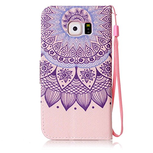 Para Smartphone Samsung Galaxy S6Funda Flip Cover Funda Piel [Tarjetero] funda piel cartera Executive Diseño + Polvo Conector beige 7 10