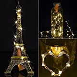 FZZ698 10pcs 20 LED String Light Night Fairy Waterproof Warm White Wine Bottle Lights for Home for Party (yellow)