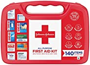 Johnson & Johnson All-Purpose Portable Compact First Aid Kit for Minor Cuts, Scrapes, Sprains & Burns,
