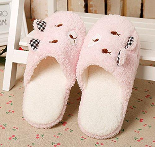 Cattior Womens Pantofole Da Casa Comode Pantofole Da Camera Rosa 1