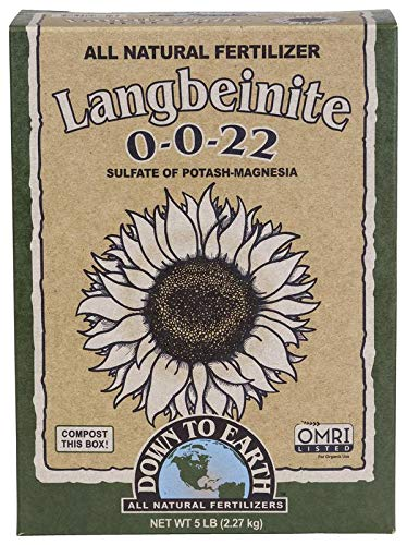 Down to Earth Organic Langbeinite Fertilizer Mix 0-0-22, 5 lb