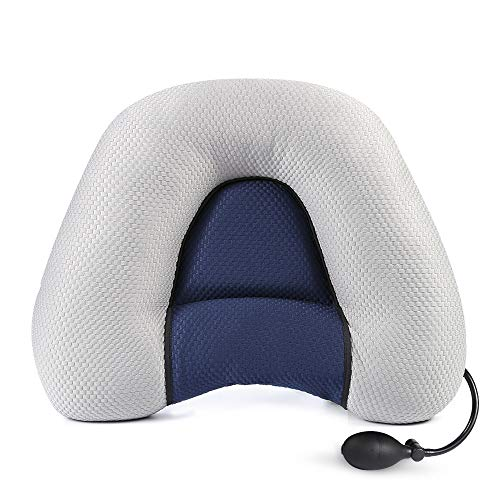 Multi Function Neck - ONETKM Neck Pillows Inflatable Adjustable Height Cervical Vertebra and Shoulder Relaxer,Ergonomic with Orthopedic Design for Neck Support and Treatment Pain Relief -Travel&Outdoor&Sleeping Pillow