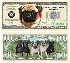 Greyhound Puppy Million Dollar Bill Novelty Money