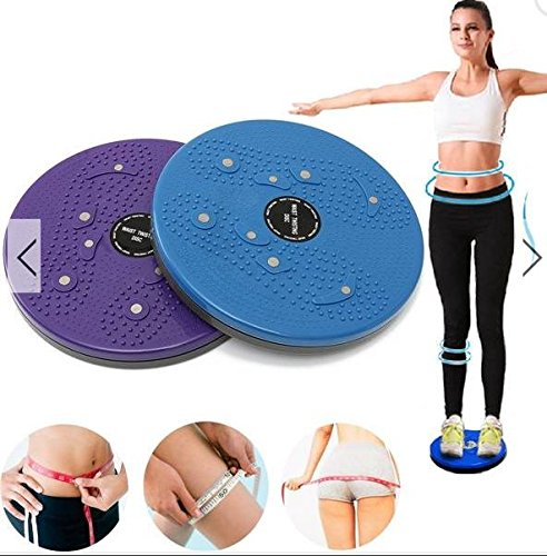 Waist Twisting Disc Healthy Massager Blue - 1