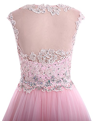Tulle with Dress Homecoming Beading Party Lace Homecoming Lavender Cocktail Dress JAEDEN Short Dresses T8AAI