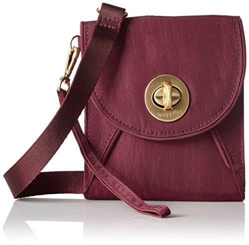 Baggallini Gold International Athens Rfid Crossbody SCR Wallet, Scarlet, One Size