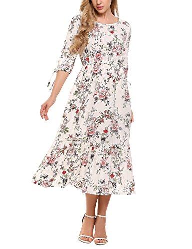 floaty sleeve chiffon floral dress - 5
