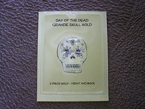 Large 2-Sided Skull Mold - Day of the Dead Sugar Skulls, Candy Skulls -