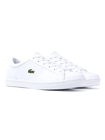 02707aef58afb1 Lacoste Straight Set Trainers White  Amazon.co.uk  Shoes   Bags