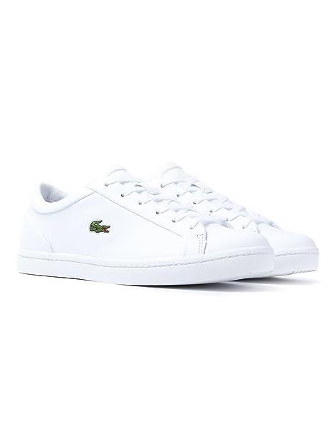 Lacoste Straight Set Mujer Zapatillas Blanco: Amazon.es: Zapatos y complementos