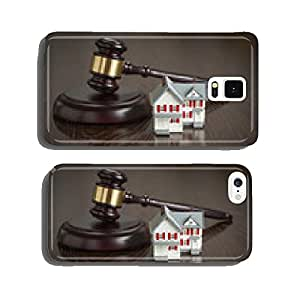 Gavel and Small Model House on Table cell phone cover case iPhone6