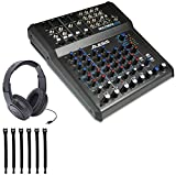 Alesis MultiMix 8 USB FX Bundle 8-Channel Mixer with Effects & USB Audio Interface + Stereo Headphones + Strapeez - Ultimate Mixer Package