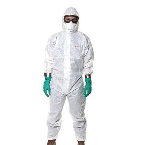 KLGU Ropa de protección química con Capucha, película ...